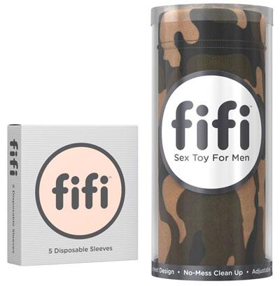 Fifi Masturbator met wegwerp sleeveFifi Masturbator met wegwerp sleeve