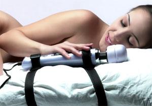 Wand vibrator hands-free gebruiken