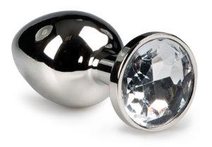 Jewel Buttplug van metaal met siersteen