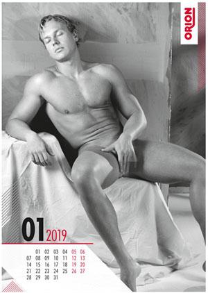Sexy mannen naakt kalender (zonder penissen)