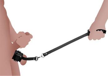 Puppy play buttplug met kwispel staart