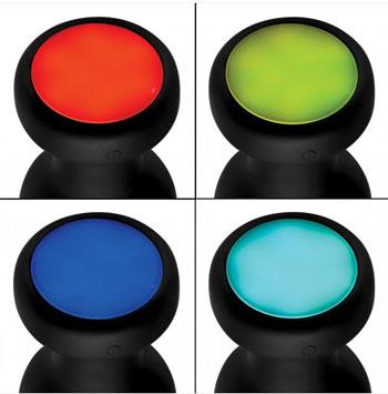 Vibrerende Buttplug met gekleurde led-lampjes